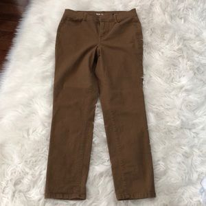 Style & Co denim brown jeans size 8P